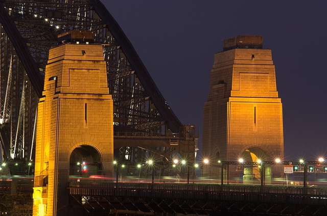 Sydney Harbour Bridge at night photography in Sydney