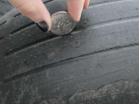 check your car tyre tread with a coin