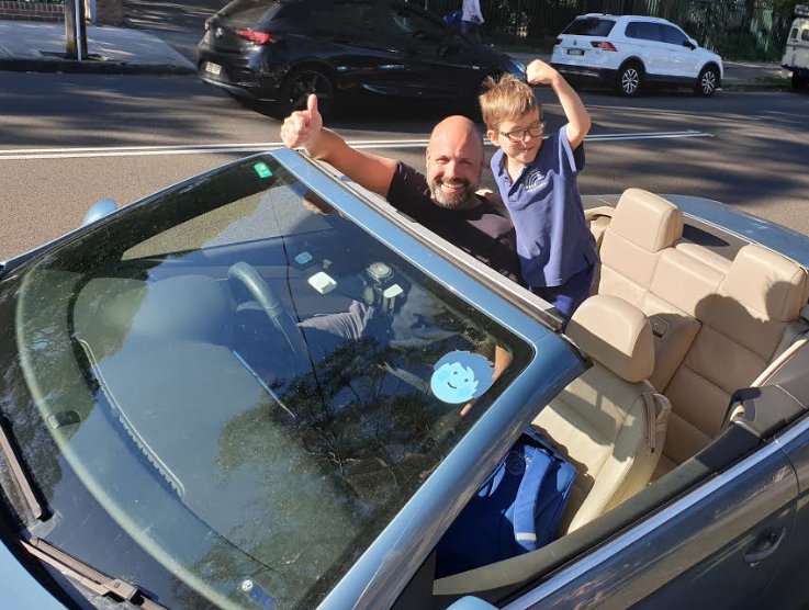 Claudio Scali uses Car Next Door to get the kids to school, and yummy vegan cookies to the community